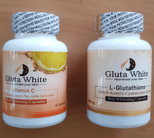 Gluta White Glutathione and Vitamin C with Collagen Skin Whitening Capsules