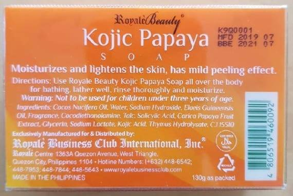 Royale Beauty Kojic Papaya Soap