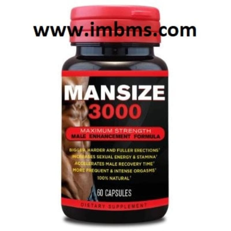 Mansize 3000 extreme male enhancement 60 capsules