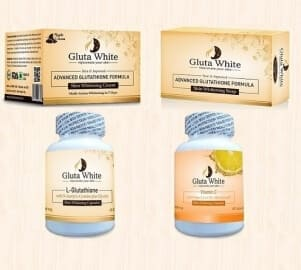 Gluta White Advanced Glutathione Night cream Soap Capsules and Vitamin C Combo