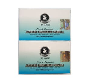 Dr James Advanced Glutathione Skin Whitening Soap Pack of 2
