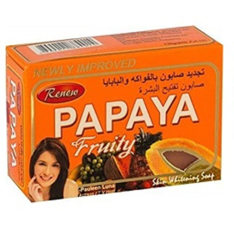 Renew Papaya Fruity skin whitening Soap