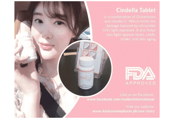 Cindella Amino Finest with Glutathione and Vitamin C 800 mg Skin Whitening 60 Capsules