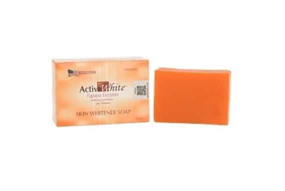 Active White Papaya Enzyme with Grapeseed Extract Skin Whitener Soap
