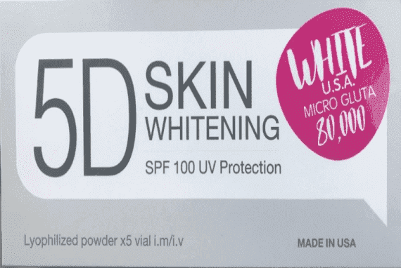 5D White USA Micro Gluta 80000mg 5 Sessions Injection