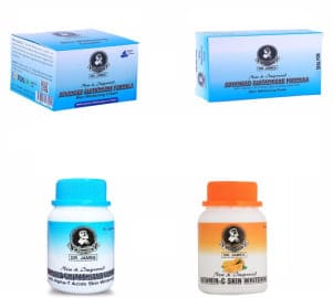 Skin whitening products combo