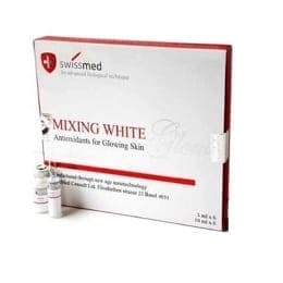 Skin whitening injection mixing