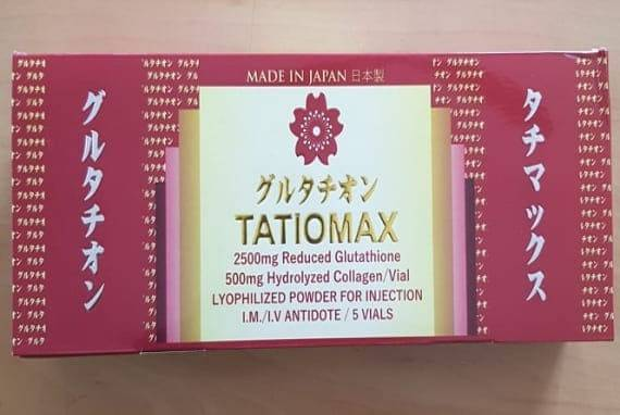 Tatiomax 2500mg Reduced Glutathione Skin Whitening Injection 5 Session