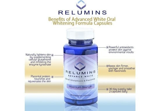 Relumins Advance White Oral Glutathione and Placenta Maximum Strength Capsules