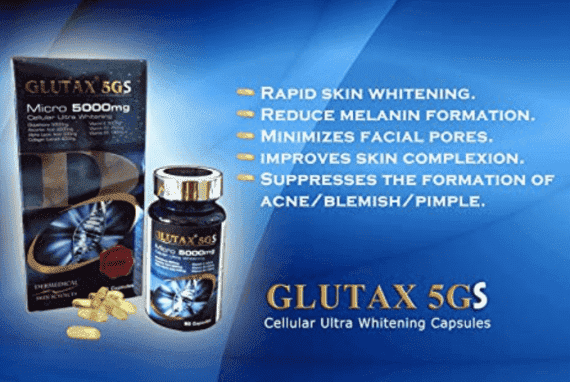 Glutax 5GS Micro 5000mg Cellular Ultra Skin Whitening 60 Capsules