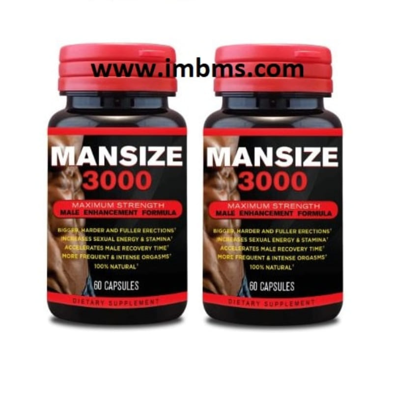 Mansize 3000 extreme male enhancement capsules Pack of 2