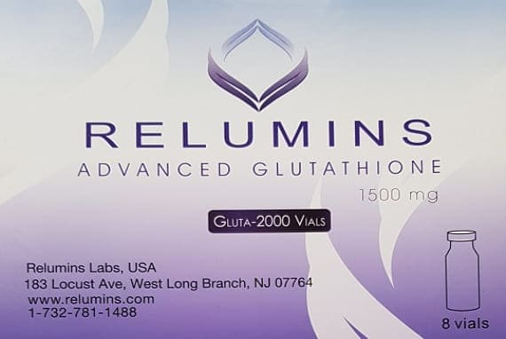 Relumins 2000mg Advance Glutathione 8 Sessions Injection