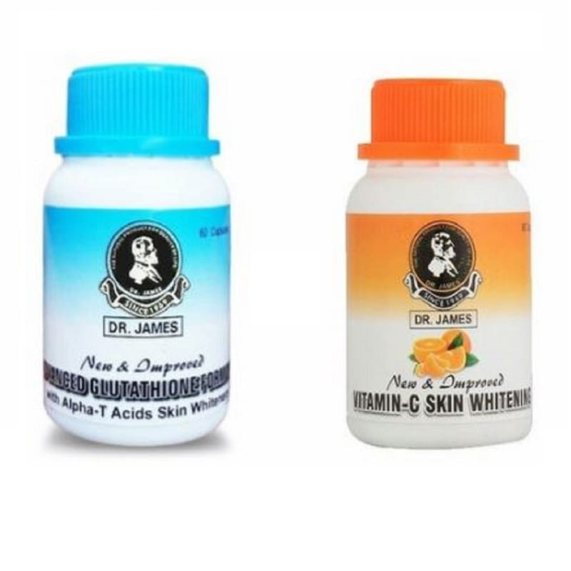 Buy Dr James Advanced Glutathione and Vitamin C Skin Whitening Capsules Combo with GMP in online