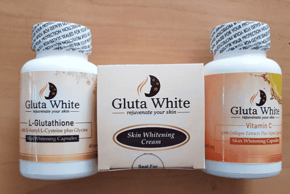 Gluta White L Glutathione Capsule Night Cream and Vitamin C Capsules