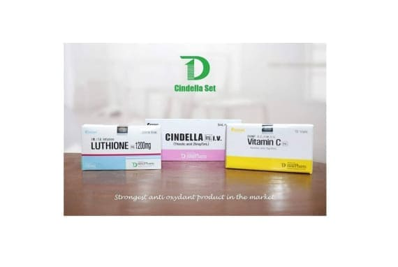 Cindella Luthione Vitamin C 1200mg Skin Whitening 10 Sessions
