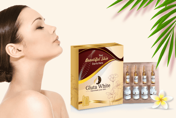 Gluta White Glutathione Skin Whitening and Anti Aging 5 Sessions Injection