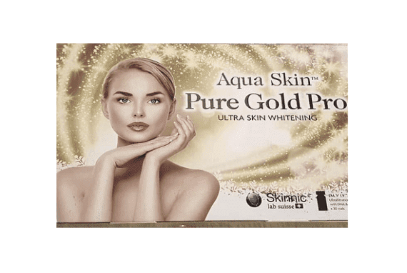 Aqua Skin Pure Gold Pro Ultra Skin Whitening Injection 30 Sessions