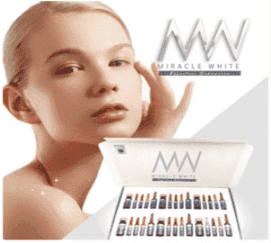 Miracle white 18000 mg skin whitening injection