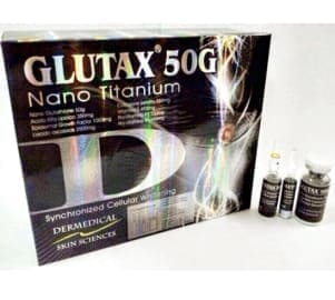 Glutax 50g Nano Titanium Glutathione Skin Whitening 10 Sessions Injection